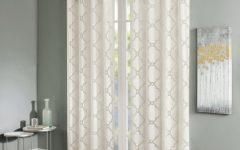 Laya Fretwork Burnout Sheer Curtain Panels