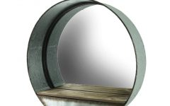 Round Galvanized Metallic Wall Mirrors