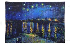 Blended Fabric Van Gogh Starry Night Over the Rhone Wall Hangings