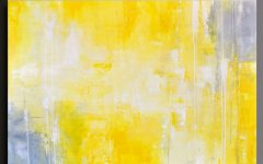 Gray And Yellow Wall Art
