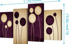 Dark Purple Abstract Wall Art