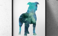 Abstract Dog Wall Art