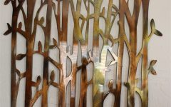 Bamboo Metal Wall Art