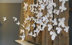 White 3d Butterfly Wall Art