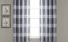 Ombre Stripe Yarn Dyed Cotton Window Curtain Panel Pairs