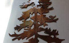 Metal Pine Tree Wall Art