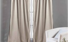 Solid Cotton Curtain Panels