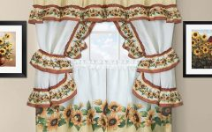 Sunflower Cottage Kitchen Curtain Tier And Valance Sets