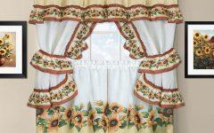 Sunflower Cottage Kitchen Curtain Tier and Valance Sets