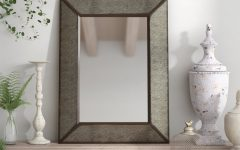 Rectangle Antique Galvanized Metal Accent Mirrors