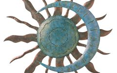 Recycled Moon and Sun Wall Decor