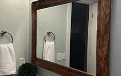 Large Wood Framed Wall Mirrors