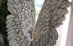 Angel Wings Sculpture Plaque Wall Art