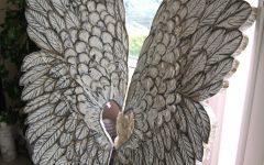 Angel Wings Sculpture Plaque Wall Art