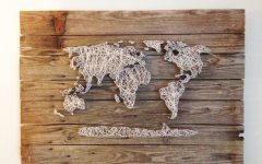 String Map Wall Art