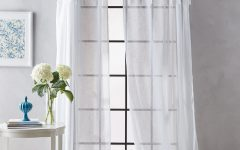 Tab Top Sheer Single Curtain Panels