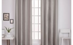 Thermal Textured Linen Grommet Top Curtain Panel Pairs