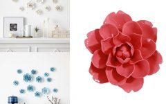 3 Piece Ceramic Flowers Wall Decor Sets