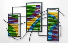 Fused Glass and Metal Wall Art