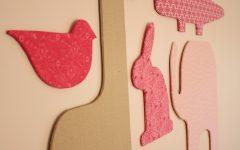 Fabric Animal Silhouette Wall Art