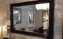 Large Black Wall Mirrors