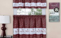 Live, Love, Laugh Window Curtain Tier Pair and Valance Sets