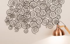 Swirl Metal Wall Art