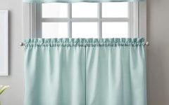 Twill 3-Piece Kitchen Curtain Tier Sets