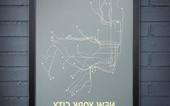 New York Subway Map Wall Art