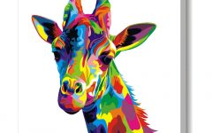 Giraffe Canvas Wall Art