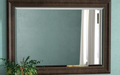 Vassallo Beaded Bronze Beveled Wall Mirrors