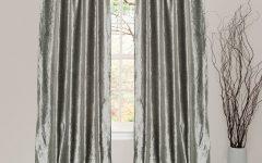 Velvet Dream Silver Curtain Panel Pairs