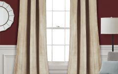 Velvet Solid Room Darkening Window Curtain Panel Sets