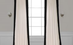 Vertical Colorblock Panama Curtains