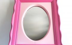 Girls Pink Wall Mirrors