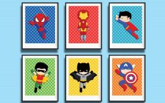 Superhero Wall Art For Kids