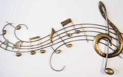 Metal Music Notes Wall Art