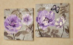 Purple Flowers Canvas Wall Art