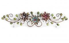 Three Flowers on Vine Wall Decor