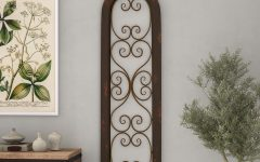 Brown Wood and Metal Wall Decor