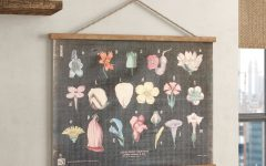 Blended Fabric Hohl Wall Hangings with Rod