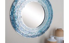 Blue Framed Wall Mirrors