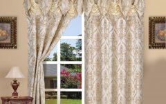 Elegant Comfort Luxury Penelopie Jacquard Window Curtain Panel Pairs