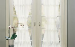 Emily Sheer Voile Solid Single Patio Door Curtain Panels