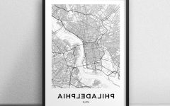 Philadelphia Map Wall Art