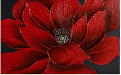 Red Flowers Canvas Wall Art