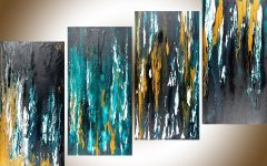 Teal and Gold Wall Art