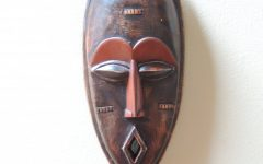 Wooden Tribal Mask Wall Art