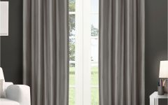 Copper Grove Fulgence Faux Silk Grommet Top Panel Curtains