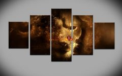 5 Piece Wall Art Canvas